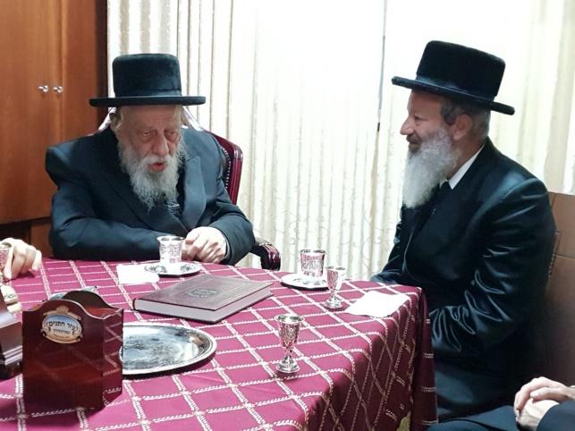 """הרבי מפאשקאן ביקר אצל זקן אדמו""""רי רוז'ין"""