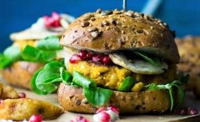 המבורגר דלעת טבעוני - המבורגר טבעוני שלא מרגיש כמו תחליף