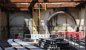 אתר עבודות הכרייה - ביום ראשון תחל כריית הרכבת הקלה. צפו
