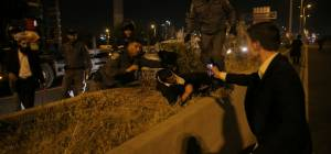 ממראות ההפגנה - המשטרה: מפגינים מ'הפלג' ריססו עלינו גז