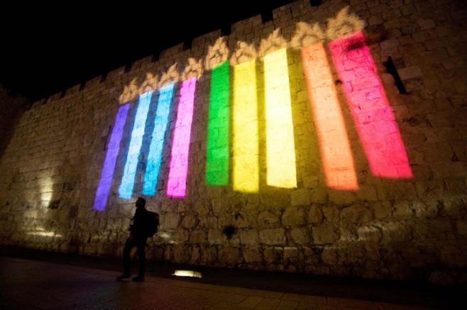 חנוכה על חומות העיר העתיקה בירושלים | גלריה