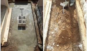 יציקת הבטון על קברו של המקובל מבני ברק