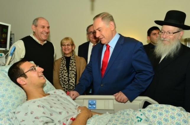 נתניהו וליצמן מבקרים את הפצועים