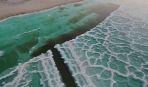 תיעוד מרהיב ביופיו: גבישי המלח בים המוות