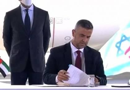 סגן השר ברגע החתימה