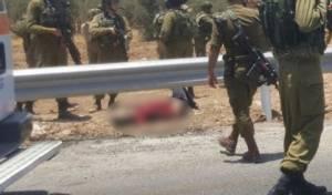 זירת הפיגוע - פיגוע: פצוע קל מעמוד שנפל מרכב המחבל
