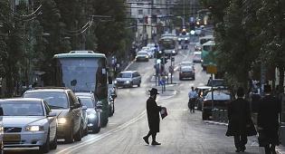 הרחוב הראשי של בני ברק. אילוסטרציה
