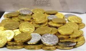 הכתב החרדי חילק מטבעות שוקולד בבית הלבן