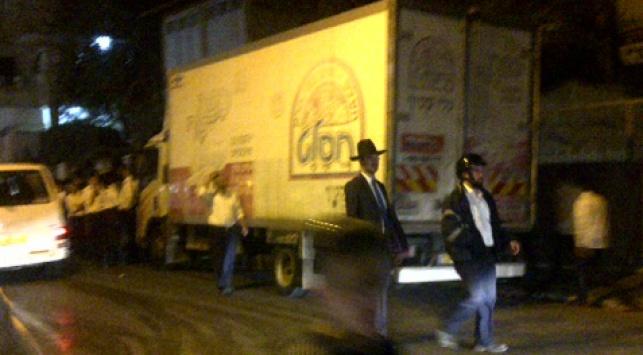 נהג משאית התפרע ברחובות בני-ברק