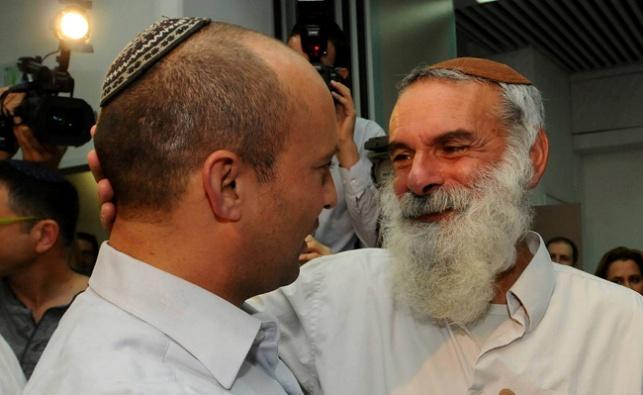"""עם יו""""ר הבית היהודי נפתלי בנט. ארכיון"""
