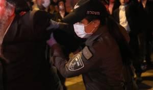 ממראות ההפגנה אמש לשחרורו