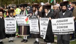 נטורי קרתא מפגינים בלונדון נגד מדינת ישראל