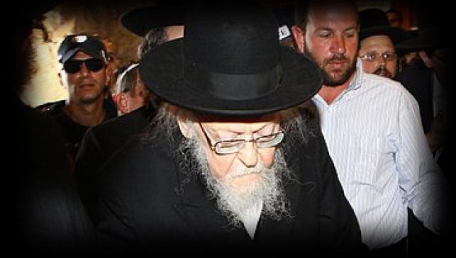 הרב אלישיב (צילום: מאיר אלפסי)