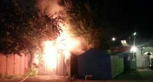 אומן: שריפה ליד ציונו של רבי נחמן