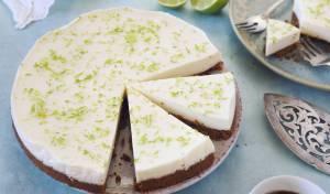 עוגת גבינה עם ליים - ללא אפיה