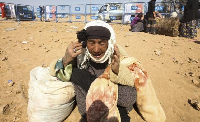 פליטה מוסלמית קשישה. אילוסטרציה, למצולמת אין קשר לכתבה