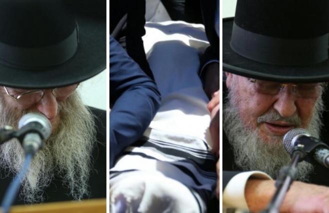 המונים בהלווית ראש ישיבת 'עטרת ישראל'