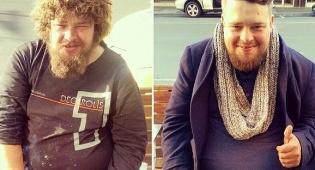 """לפני ואחרי העבודה המדהימה של """"ספר הרחובות"""" - מעצב שיער מספר הומלסים בחינם"""