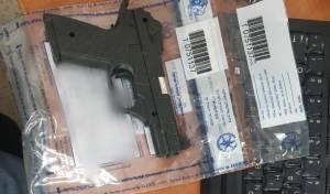 האקדח שנתפס בבית החשוד