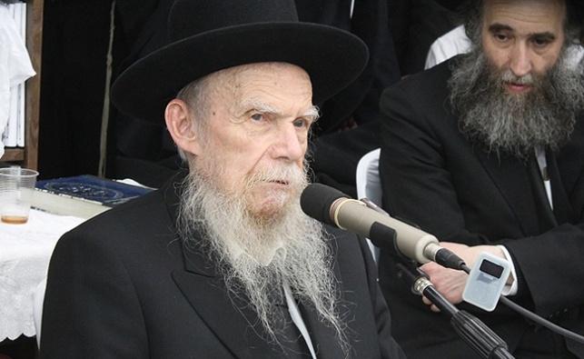 ראש ישיבת פוניבז' הגאון רבי גרשון אדלשטיין