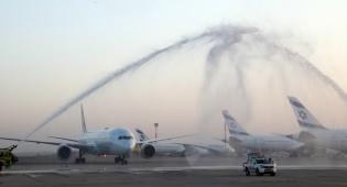 טיסה מסחרית ראשונה מישראל לאבו דאבי