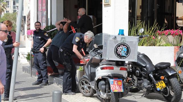כוחות הביטחון בזירת הפיגוע