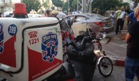 """נשים חרדיות נפצעו - בתאונת דרכים בפ""""ת"""