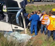 זירת התאונה - מצבו של נהג האוטובוס החסידי - קריטי