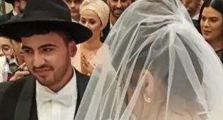 נתנאל וחנה אברג'ל נישאו בבית כנסת. צפו