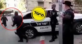 רץ ברשת: חרדי נמלט משוטר הרושם לו דוח