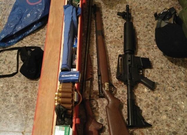 נשק ותחמושת נתפסו בידי כוחות הביטחון
