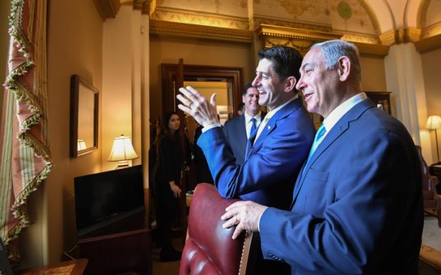 """נתניהו בוושינגטון, לצד יו""""ר בית הנבחרים. מרוצה"""