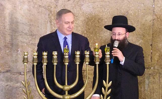 הרב  רבינוביץ' וראש הממשלה