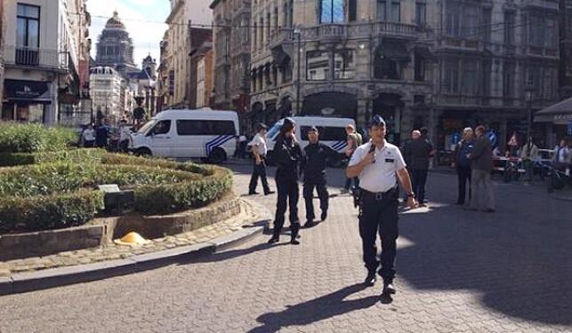 זירת הפיגוע בבריסל, זמן קצר לאחר הפיגוע