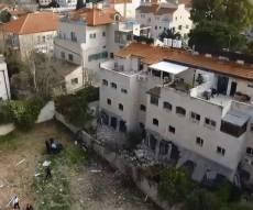 הרחפן תיעד: זירת פיצוץ בלון הגז בירושלים