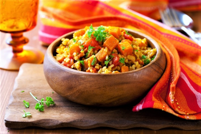 תבשיל ירקות כתומים מרוקאי