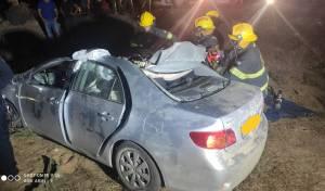 נהג רכב בן 30 התנגש בגמל, נלכד ונהרג