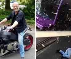 וידאו ויראלי: נפגע מאוטובוס, קם והמשיך ללכת
