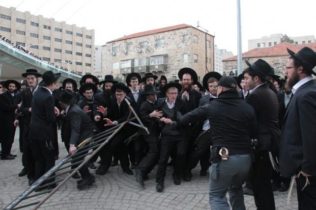 ההפגנה נגד הגיוס