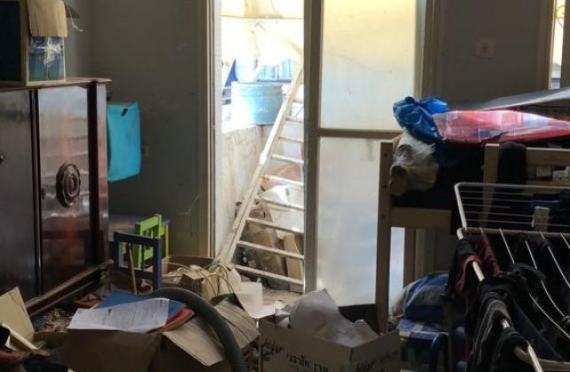 ההרס בדירה בה נעצר