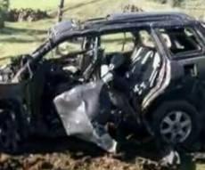 הרכב הפגוע, לאחר התקיפה - דיווחים בסוריה: ישראל ביצעה סיכול ממוקד