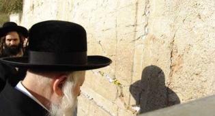 """צפו: האדמו""""ר מגור בתפילה בכותל"""