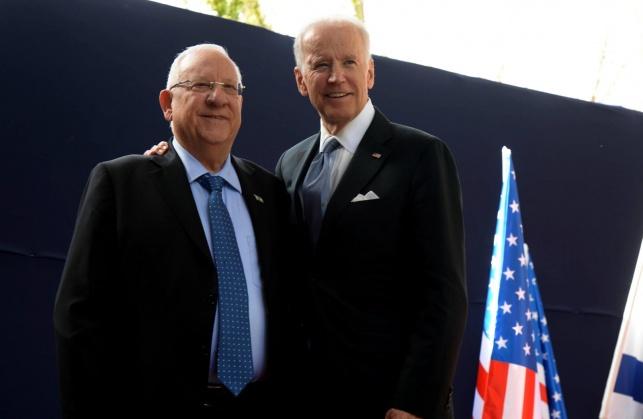 ביידן והנשיא ריבלין. ארכיון