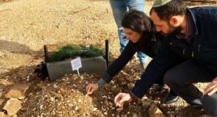 """שקד בקברו של הרב רזיאל שבח הי""""ד - שקד: לאשר את 'חוות גלעד' כבר ביום ראשון"""