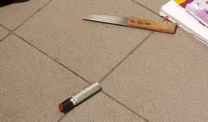 הסכין והגז שנתפסו