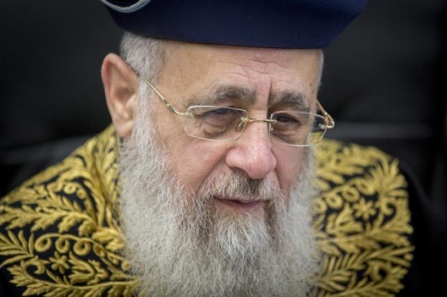 """הראשל""""צ הרב יצחק יוסף. מן הארכיון"""