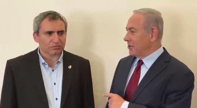 ראש הממשלה בנימין נתניהו והשר זאב אלקין