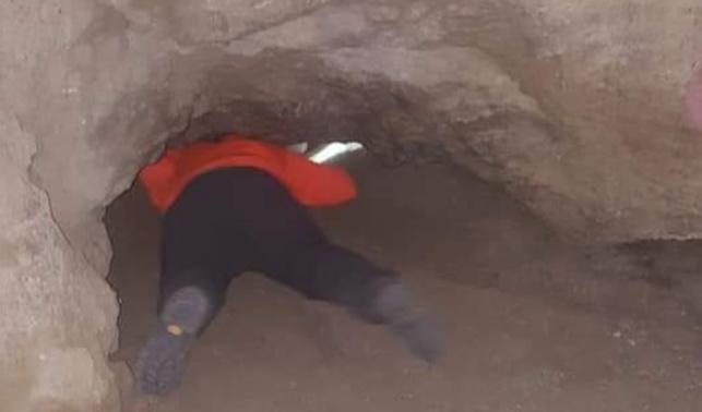 התייר נתקע בתוך המערה וחולץ באישון ליל
