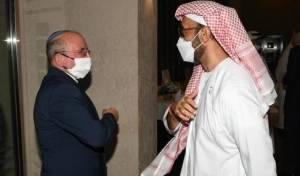 היועץ לביטחון לאומי של האמירויות עם מקבילו הישראלי