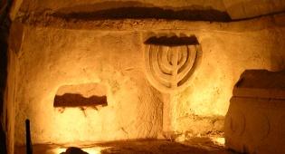מערות מנורה בגן הלאומי בית שערים - אל נבכי המערות ומורשת העם היהודי - בית שערים